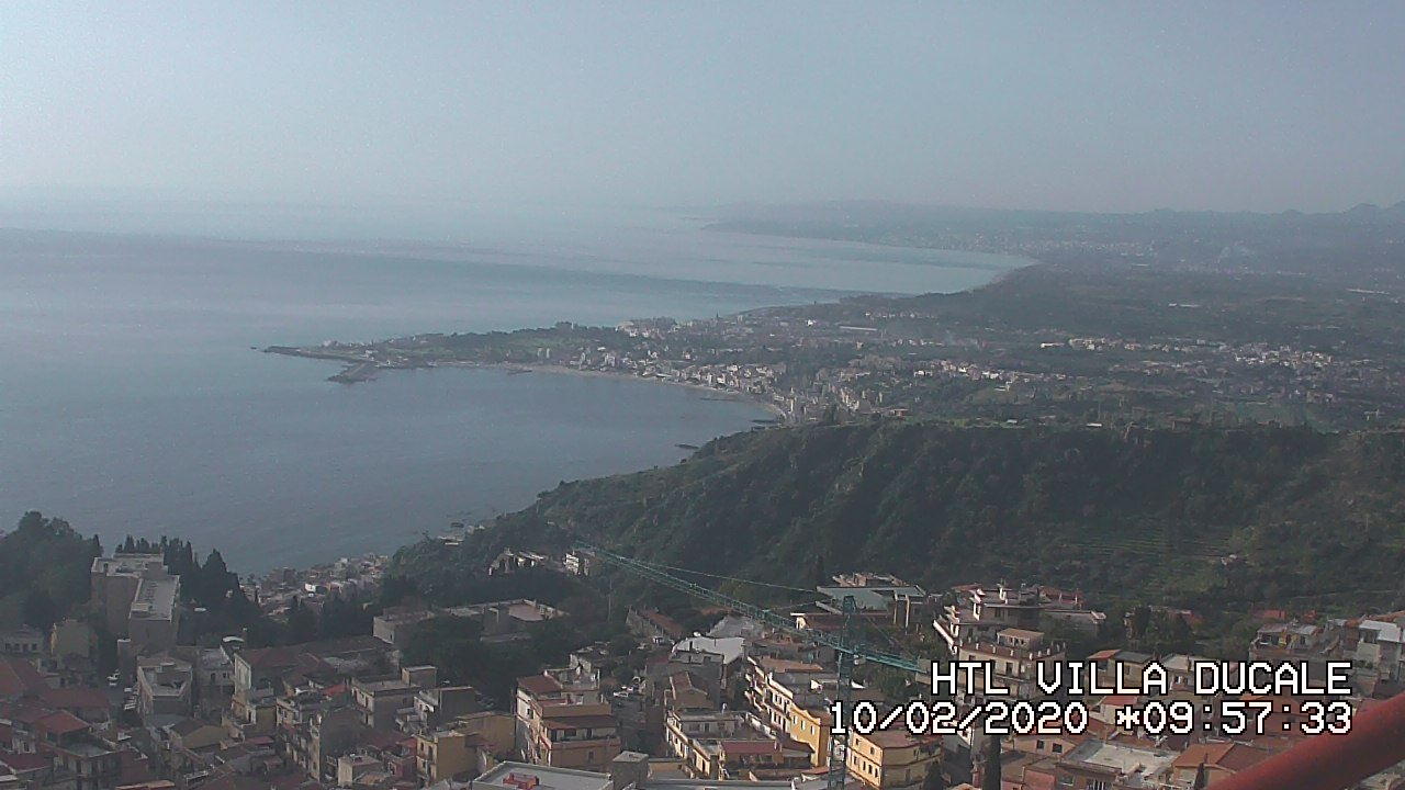 Taormina webcam - Hotel Villa Ducale, Taormina webcam, Sicily, Messina